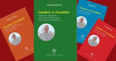 """""""Gaudete et exsultate""""<br><i>Exhortation du Pape François</i>"""